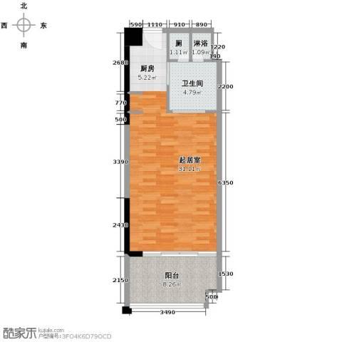 合景・汀澜海岸1室1厅1卫0厨53.00㎡户型图