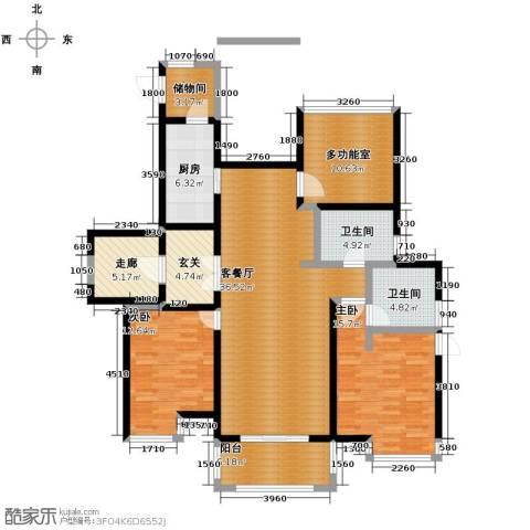 富力十号3室2厅2卫0厨119.00㎡户型图