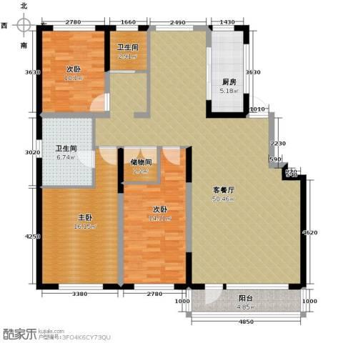 领秀世家3室2厅2卫0厨170.00㎡户型图