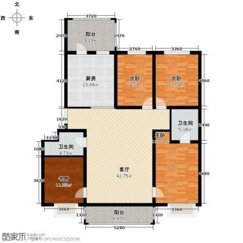 松浦观江国际4室1厅2卫0厨136.58㎡户型图