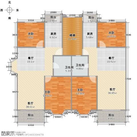 宋都梅苑人家4室2厅2卫0厨157.44㎡户型图