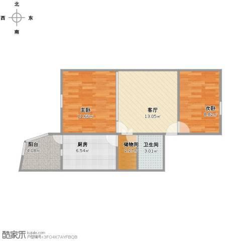管庄西里2室1厅1卫1厨67.00㎡户型图