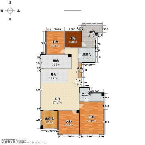 绿城翡翠湖玫瑰园4室2厅2卫0厨202.00㎡户型图