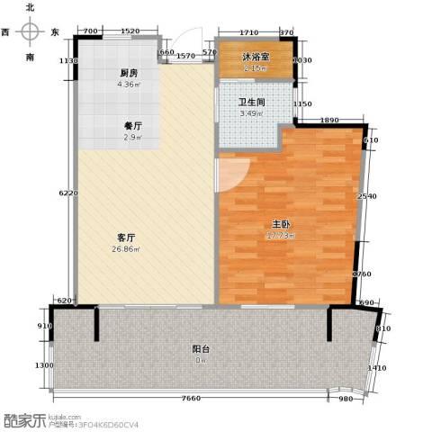 中信・香水湾1室1厅1卫0厨66.00㎡户型图