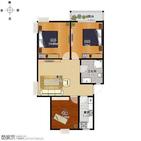三和嘉园3室1厅1卫1厨99.00㎡户型图