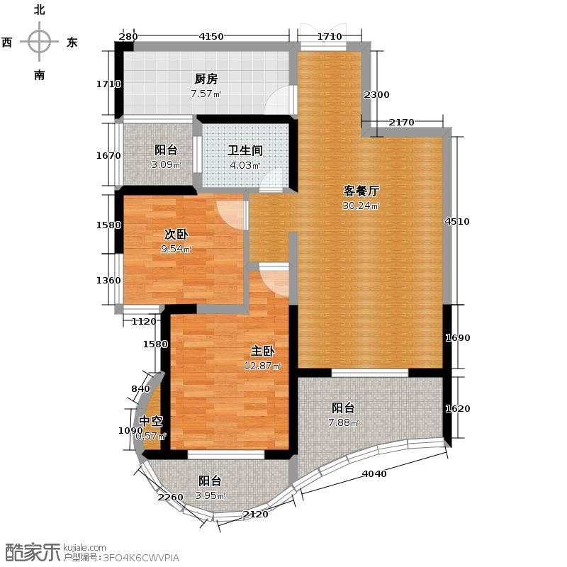 森林海93.00㎡户型10室