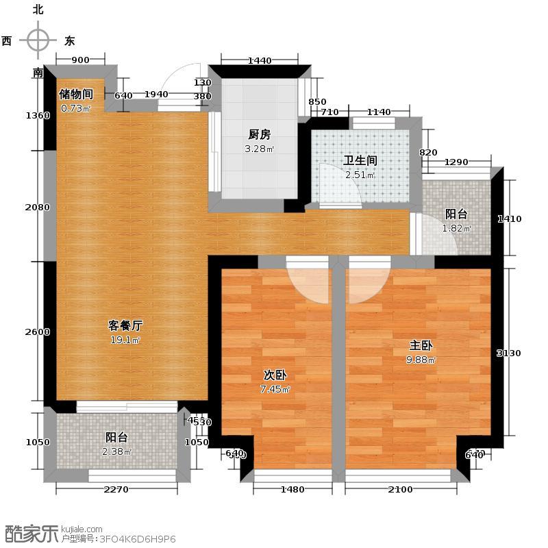 华地润园89.00㎡G8户型2室2厅1卫