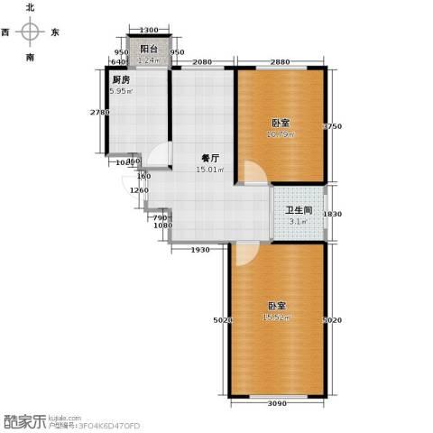 阳光帝景1厅1卫1厨76.00㎡户型图