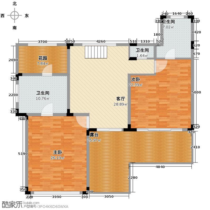 中信・香水湾113.00㎡B2别墅一间双风吕地下一层平面图户型3室4厅3卫