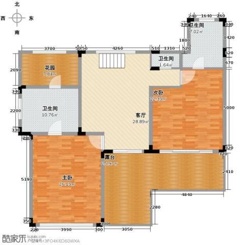 中信・香水湾3室4厅3卫0厨130.69㎡户型图