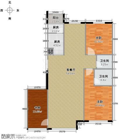 中国铁建国际花园153.00㎡户型图