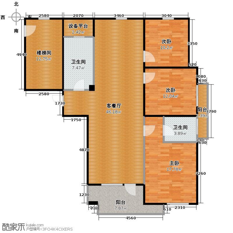 闲林山水别墅131.99㎡户型3室1厅2卫