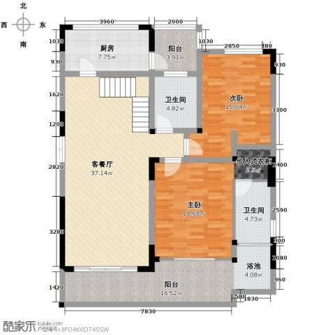 万联・晋海3室2厅3卫0厨192.00㎡户型图
