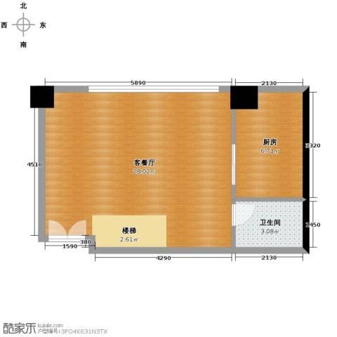 蚕桑西苑1厅1卫1厨98.00㎡户型图