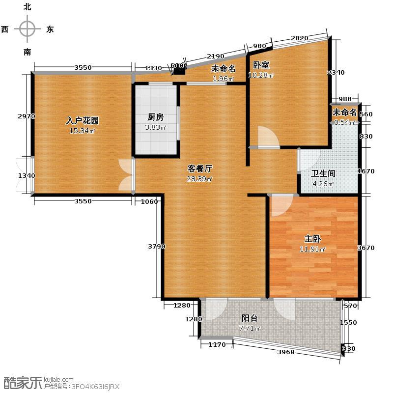 玉兰公寓88.00㎡3-16层户型1室1厅1卫1厨