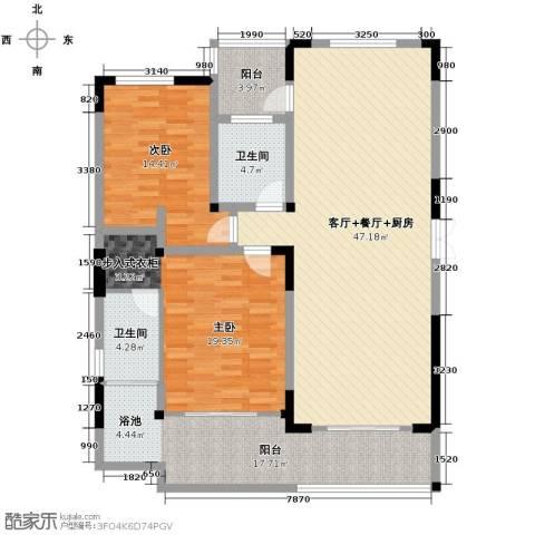 万联・晋海2室2厅1卫0厨131.00㎡户型图