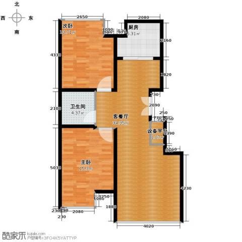 豪邦缇香公馆2室2厅1卫0厨85.00㎡户型图