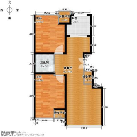 豪邦缇香公馆2室2厅1卫0厨75.00㎡户型图