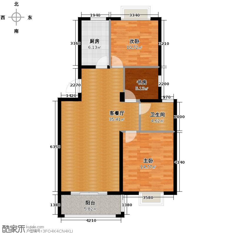 首业御东湾89.00㎡8#F-2户型3室1厅1卫1厨