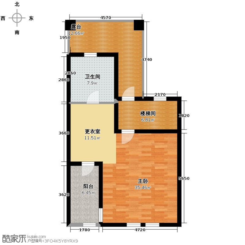 东紫园78.62㎡g三层户型3室3厅5卫