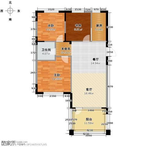中国铁建国际花园103.00㎡户型图