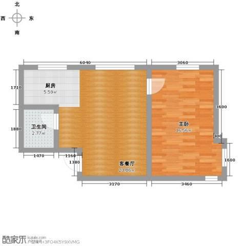 亚泰梧桐公馆1室1厅1卫0厨67.00㎡户型图