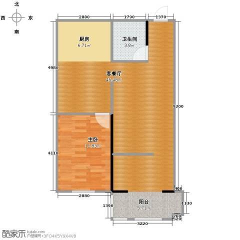 亚泰梧桐公馆1室1厅1卫0厨79.00㎡户型图