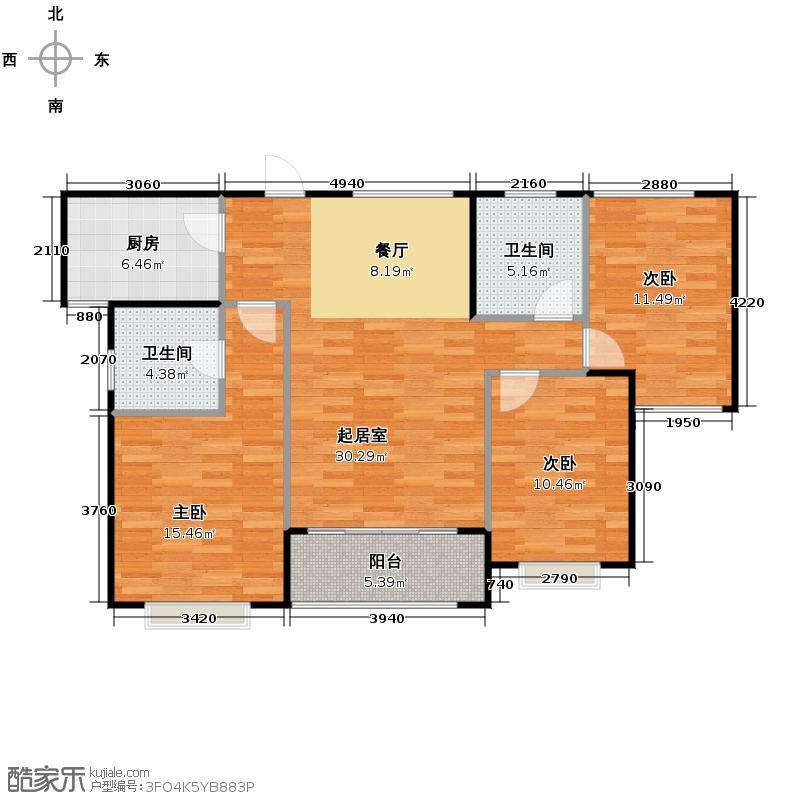 罗源湾滨海新城95.95㎡户型10室