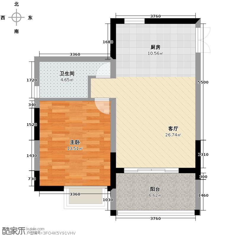 山水绿世界66.00㎡1号楼0户型1室2厅1卫