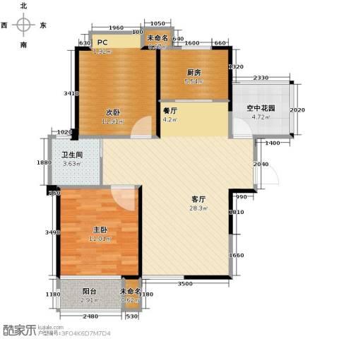 圣联香御公馆2室2厅1卫0厨94.00㎡户型图