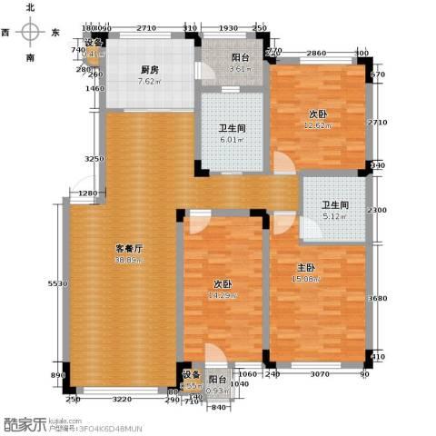绿地国际花都3室1厅2卫1厨149.00㎡户型图