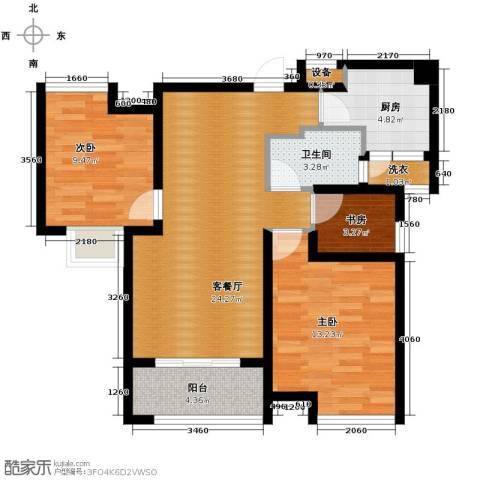 中铁滨湖名邸2室2厅1卫0厨88.00㎡户型图