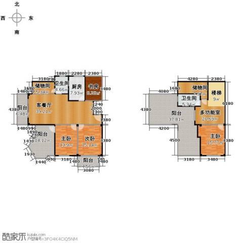 众孚水榭花都4室1厅2卫1厨207.22㎡户型图