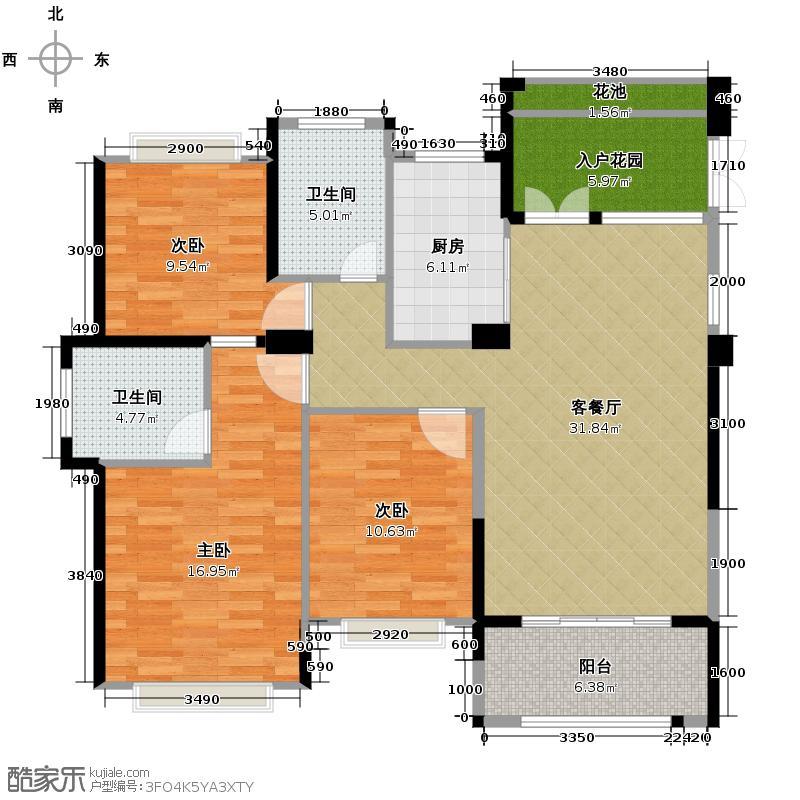 罗源湾滨海新城110.21㎡6区户型10室