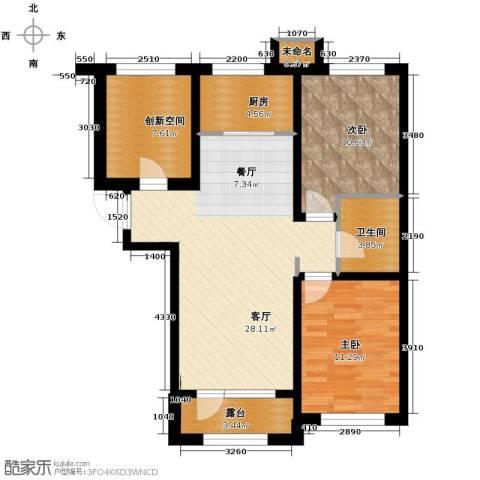 万豪城2室2厅1卫0厨95.00㎡户型图