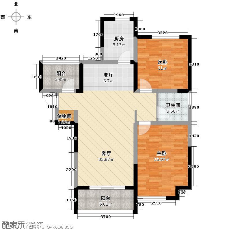 华地润园103.00㎡D5户型3室2厅1卫