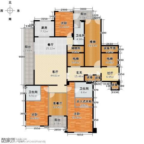 新华园4室2厅3卫0厨209.54㎡户型图