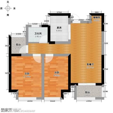 华地润园2室2厅1卫0厨89.00㎡户型图