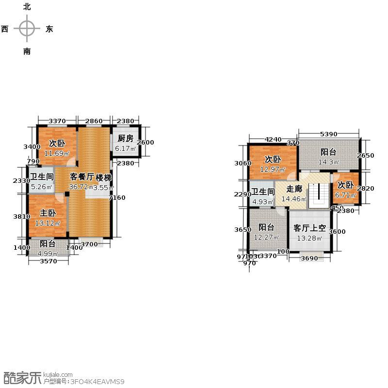 德意义和花园91.10㎡A侯爵(西)户型4室1厅2卫1厨