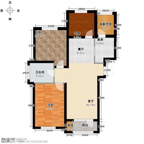 万豪城3室2厅1卫0厨110.00㎡户型图