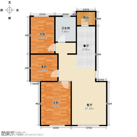 新地山湾3室1厅1卫0厨89.00㎡户型图