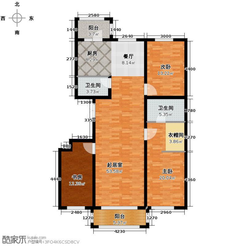 海富城178.66㎡户型3室2厅2卫