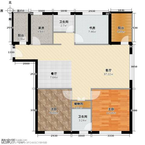 领秀世家3室2厅2卫0厨120.00㎡户型图