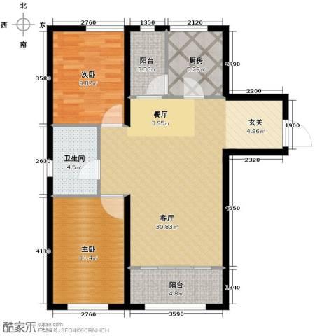 金昌国际2室2厅1卫0厨97.00㎡户型图