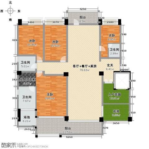 万联・晋海4室3厅2卫0厨220.00㎡户型图