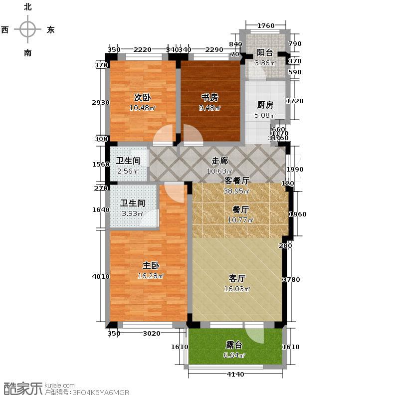中国铁建国际花园103.46㎡户型10室