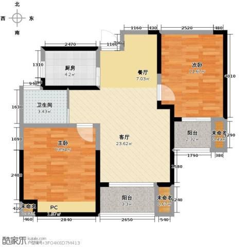 圣联香御公馆2室2厅1卫0厨89.00㎡户型图
