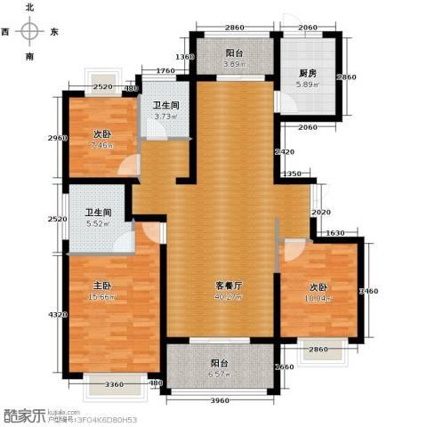 淮矿馥邦天下3室2厅2卫0厨140.00㎡户型图