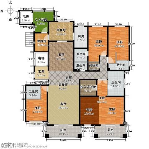 绿地・内森庄园5室2厅6卫0厨307.00㎡户型图