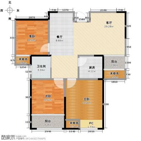 圣联香御公馆3室2厅1卫0厨97.00㎡户型图